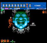 Ai: Chō Aniki TurboGrafx CD Shooting at deadly grinning faces