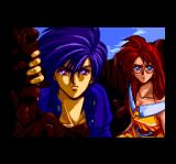 Alshark TurboGrafx CD Shion and Shoko, the heroes of the game, in an animated cutscenes