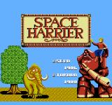 Space Harrier NES Title Screen