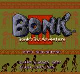 Bonk 3: Bonk's Big Adventure TurboGrafx CD Title screen