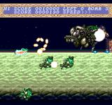 Chō Aniki TurboGrafx CD Weird bird-like guys attacking