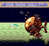 Chō Aniki TurboGrafx CD First level boss: shoot at his face!