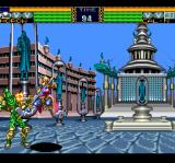 Flash Hiders TurboGrafx CD Fighting on a city background