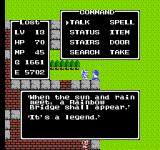 Dragon Warrior NES Talking to a townsfolk