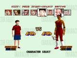 1 on 1 PlayStation 2 player Mini Game. This is the character selection screen.