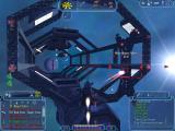 Freelancer Windows Giant Structures: Approaching a spacedock, guarded by weapon platforms.