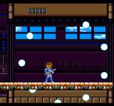 Kaizō Chōjin Shubibinman 3: Ikai no Princess TurboGrafx CD Pesky white spheres attack me while I ride the platform