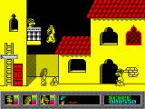 Mystery of the Nile ZX Spectrum Janet found a pack of grenades.