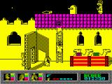 Mystery of the Nile ZX Spectrum There is an umbrella on the roof.