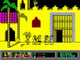 Mystery of the Nile ZX Spectrum Nevada shot a guard with his colt.