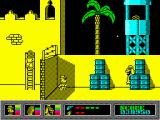 Mystery of the Nile ZX Spectrum Taking cover from sniper attack.