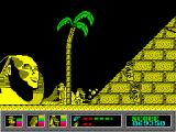 Mystery of the Nile ZX Spectrum Trying to pass around a pyramid.