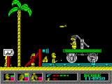 Mystery of the Nile ZX Spectrum Nevada in a wild gun battle.