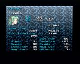 Final Fantasy III PlayStation Checking your character stats (note how the background display is selectable).