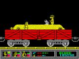 Mystery of the Nile ZX Spectrum Inside a wagon full of sand.