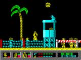Mystery of the Nile ZX Spectrum A big jump towards the tower.