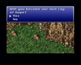 Final Fantasy III PlayStation Sometimes, answers may interfere with the game's plot resolutions.