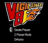 Vigilante 8 Game Boy Color Title and Main Menu