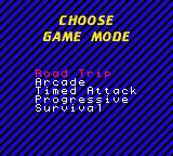 Vigilante 8 Game Boy Color Selecting Game Mode