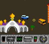 Vigilante 8 Game Boy Color Chasing Coyote in the Bus