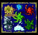 Lords of Thunder TurboGrafx CD World map