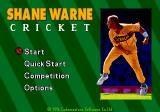 Shane Warne Cricket Genesis Title screen.