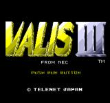 Valis III TurboGrafx CD Title screen