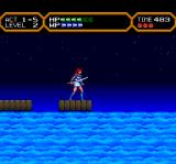 Valis IV TurboGrafx CD Crossing water on platforms