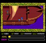 Ys IV: The Dawn of Ys TurboGrafx CD Adol on a ship