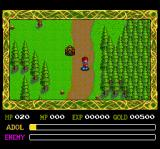 Ys IV: The Dawn of Ys TurboGrafx CD Wilderness. Adol encounters monsters