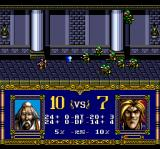 Warsong TurboGrafx CD Battle inside a castle. The priest is very powerful