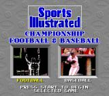 Sports Illustrated Championship Football & Baseball SNES Select a sport