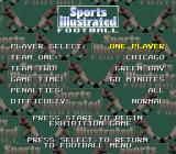 Sports Illustrated Championship Football & Baseball SNES Football options