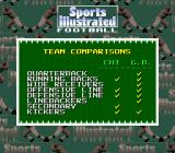 Sports Illustrated Championship Football & Baseball SNES Football team comparisons