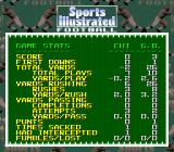 Sports Illustrated Championship Football & Baseball SNES Game stats