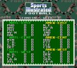 Sports Illustrated Championship Football & Baseball SNES Football standings