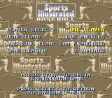 Sports Illustrated Championship Football & Baseball SNES Baseball options