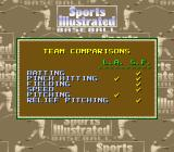 Sports Illustrated Championship Football & Baseball SNES Baseball team comparisons