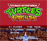 Teenage Mutant Ninja Turtles: Turtles in Time SNES Japanese title screen