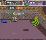 Teenage Mutant Ninja Turtles: Turtles in Time SNES The bosses are also there.
