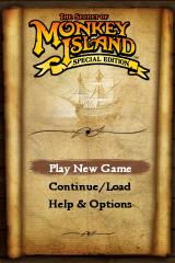 The Secret of Monkey Island: Special Edition iPhone Main Menu