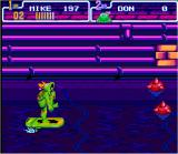 Teenage Mutant Ninja Turtles: Turtles in Time SNES There's also a stage on the water.