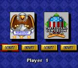 Roger Clemens' MVP Baseball SNES Select a team's division