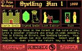 Spelling Fun One DOS Spelling Fun 1 main menu