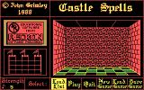 Spelling Fun One DOS Castle Spells main menu