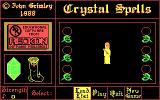 Spelling Fun One DOS Crystal Spells main menu