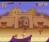 Disney's Aladdin SNES The game has cinematographic animation.