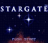 Stargate Game Gear Title screen.