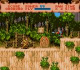 Hook Genesis The game is full of beautiful backgrounds: basically the same as the SNES version.