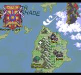Seiya Monogatari: Anearth Fantasy Stories TurboGrafx CD Beautiful world map